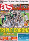 Portada diario AS del 26 de Junio de 2011