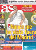 Portada diario AS del 27 de Junio de 2011