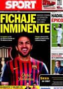 Portada diario Sport del 28 de Junio de 2011