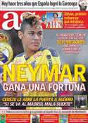 Portada diario AS del 29 de Junio de 2011