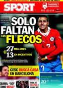 Portada diario Sport del 29 de Junio de 2011