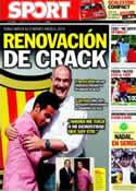 Portada diario Sport del 30 de Junio de 2011