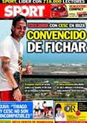 Portada diario Sport del 1 de Julio de 2011