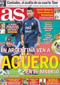 Portada diario AS del 2 de Julio de 2011