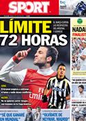 Portada diario Sport del 2 de Julio de 2011