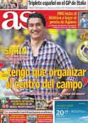 Portada diario AS del 4 de Julio de 2011