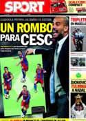 Portada diario Sport del 4 de Julio de 2011