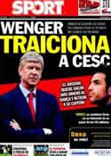 Portada diario Sport del 5 de Julio de 2011