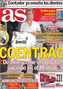 Portada diario AS del 6 de Julio de 2011