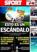 Portada diario Sport del 7 de Julio de 2011