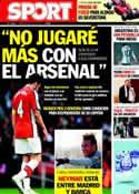 Portada diario Sport del 8 de Julio de 2011