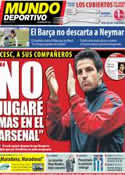 Portada Mundo Deportivo del 8 de Julio de 2011