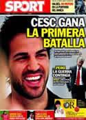 Portada diario Sport del 9 de Julio de 2011