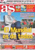 Portada diario AS del 10 de Julio de 2011