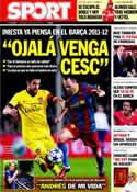 Portada diario Sport del 10 de Julio de 2011