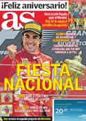 Portada diario AS del 11 de Julio de 2011