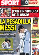 Portada diario Sport del 11 de Julio de 2011