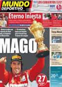Portada Mundo Deportivo del 11 de Julio de 2011