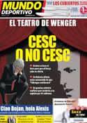 Portada Mundo Deportivo del 12 de Julio de 2011