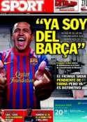 Portada diario Sport del 14 de Julio de 2011