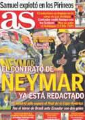 Portada diario AS del 15 de Julio de 2011