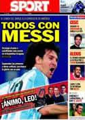 Portada diario Sport del 16 de Julio de 2011