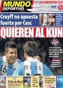 Portada Mundo Deportivo del 16 de Julio de 2011