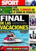 Portada diario Sport del 17 de Julio de 2011