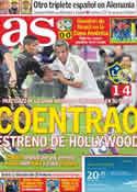 Portada diario AS del 18 de Julio de 2011