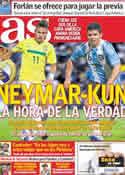 Portada diario AS del 19 de Julio de 2011