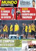 Portada Mundo Deportivo del 19 de Julio de 2011