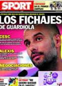 Portada diario Sport del 20 de Julio de 2011