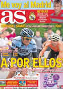 Portada diario AS del 21 de Julio de 2011