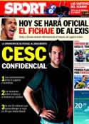 Portada diario Sport del 21 de Julio de 2011