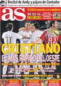Portada diario AS del 22 de Julio de 2011