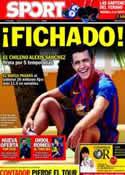 Portada diario Sport del 22 de Julio de 2011