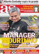 Portada diario AS del 23 de Julio de 2011
