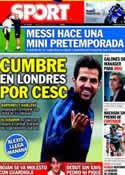 Portada diario Sport del 23 de Julio de 2011