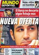 Portada Mundo Deportivo del 23 de Julio de 2011