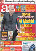 Portada diario AS del 24 de Julio de 2011