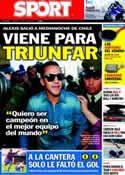 Portada diario Sport del 24 de Julio de 2011