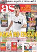 Portada diario AS del 25 de Julio de 2011