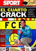 Portada diario Sport del 25 de Julio de 2011