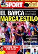 Portada diario Sport del 27 de Julio de 2011