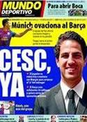 Portada Mundo Deportivo del 27 de Julio de 2011