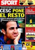 Portada diario Sport del 30 de Julio de 2011