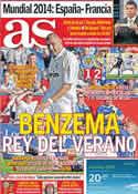 Portada diario AS del 31 de Julio de 2011
