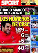 Portada diario Sport del 31 de Julio de 2011