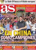Portada diario AS del 1 de Agosto de 2011