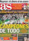 Portada diario AS del 2 de Agosto de 2011